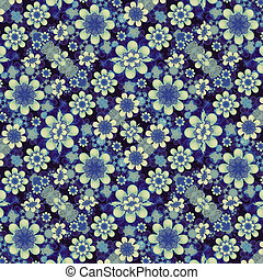 Modern Geometric Floral Pattern Collage - Digital collage...