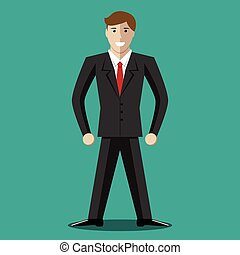 Successful young businessman character