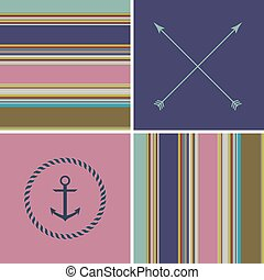 geometric colorful retro vintage cute fashion background...