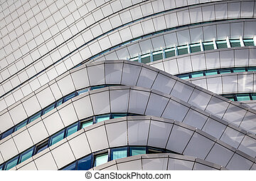 Curved details of modern architecture in the Netherlands