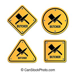 butcher signs - suitable for signs and symbol
