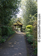 Churchyard entrance - Path leading to churchyard entrance