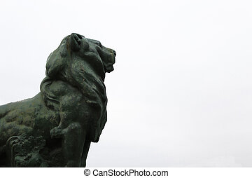 nice stone lion - Creative design of nice stone lion