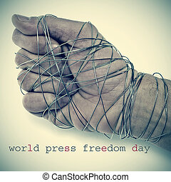 world press freedom day - the text world press freedom day...