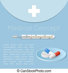 Medical health care background concept