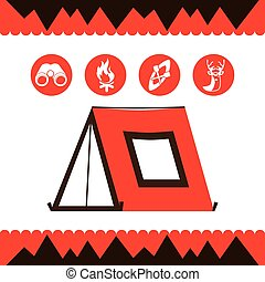 camping tent design, vector illustration eps10 graphic