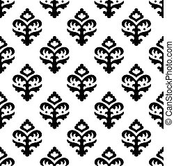 Renaissance style ornament - Black and white vector ornament...
