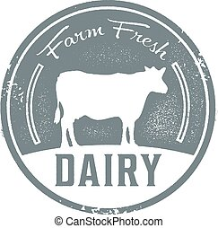Farm Fresh Dairy - Vintage style farm fresh dairy sign.