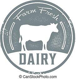 Farm Fresh Dairy - Vintage style farm fresh dairy sign.