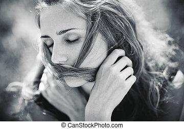 Young woman concept portrait