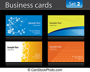 Business cards - Set of business cards templates.