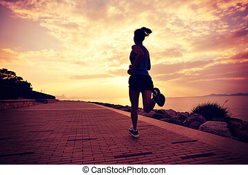 young healthy lifestyle woman run