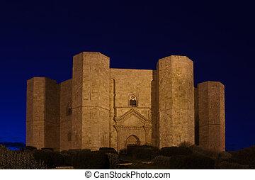 Castel, Del, monte, Sławny, zamek, Budowany, przez,...