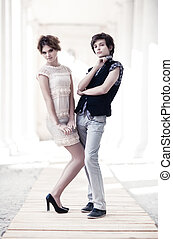 Young couple fashion