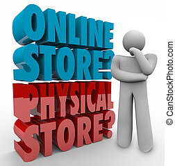 Online Vs Physical Store Thinker Best Shopping Option Retail...