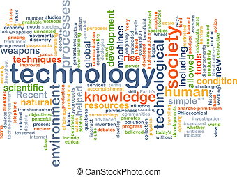 Technology wordcloud concept illustration - Background text...