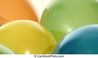 Background with lot of multicolored balloons, rotation,...