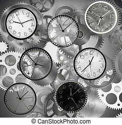 Quickly time - Clocks mark the time that passes quickly