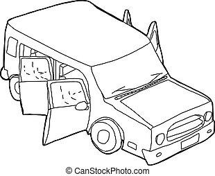 Vecteurs eps de garage ouvert contour dessin anim for Garage ouvert autour de moi
