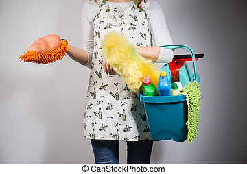 Housewife with her equipment