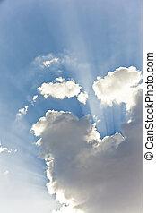 Sunbeams behind clouds - Beautiful sunbeams behind clouds...