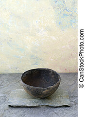 Simply Empty - Empty ancient bowl in a still life setting.