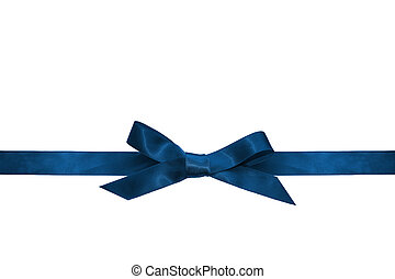 Blue ribbon isolated on white