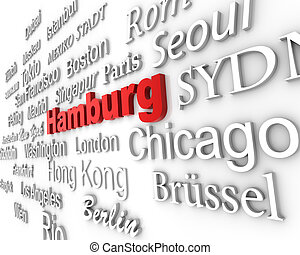 Metropolis Hamburg - typographical demonstration of big...