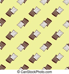 pillows pattern - Seamless pattern with square pillows...