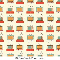 old TVs pattern - Seamless pattern with old TVs vector...