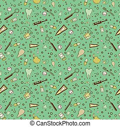 dental supplies pattern - Seamless pattern with dental...