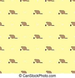 beaver pattern - Seamless pattern with Canadian beaver...
