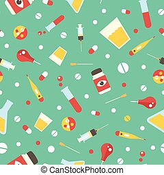 medical supplies pattern - Seamless pattern with medical...