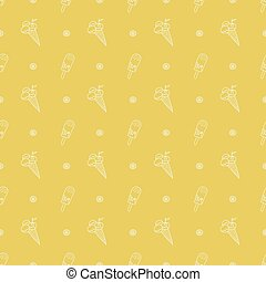 ice cream pattern - Seamless pattern with ice cream on a...