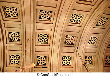 Curved Ceiling Design of Palace - View of curved ceiling...