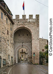 gate in Assisi, Italy - gate in the wall of Assisi, Italy