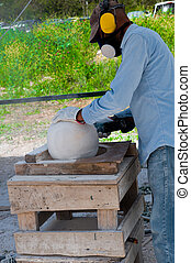 Grinding stone ball