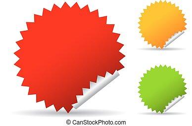 Round star stickers