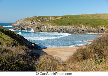 Porth Joke beach next to Crantock - South West Coast Path...