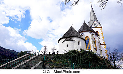 Historical church in Klagenfurt Austria - Maria worth...