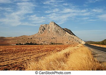 Lovers mountain, Antequera. - View of Lovers Mountain with a...