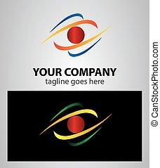 Abstract Eye future vision logo