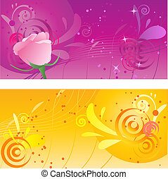 Pretty backgrounds with swirl design