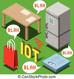 The Chatter of Things - Isometric Internet of Things -...