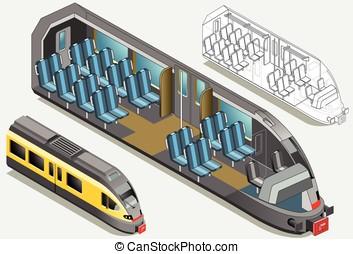 Isometric High Speed Subway Longitudinal Section - Mind the...