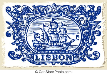 Traditional Tiles Azulejos Lisbon Portugal - Detailed...