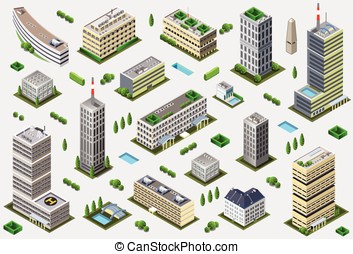 Isometric Megalopolis Building Collection - City Game Tales...