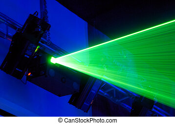 Laser installation for creation of light effects on musical...