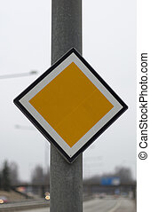 Arterial Road Sign by highway