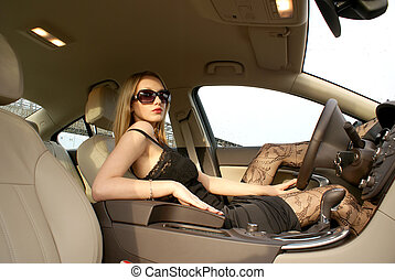 Sexy driver - Sexy woman in the car